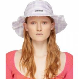 Jacquemus Purple and White Le Bob Artichaut Bucket Hat 201AC03-201 7364I