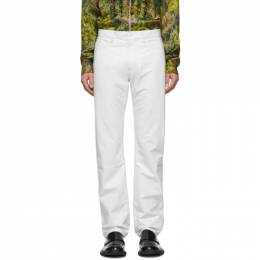 Dries Van Noten White Leather Pants 21813-9393-001