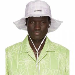 Jacquemus Purple and White Le Bob Artichaut Bucket Hat 205AC02-205 6964I