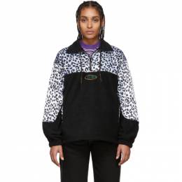 Black and White Leopard Half-Zip Sweatshirt NGSS20012 Noon Goons