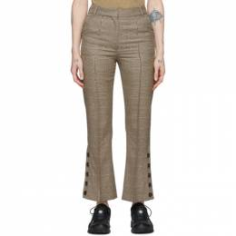 Rokh Beige Houndstooth Utility Trousers R1CA45