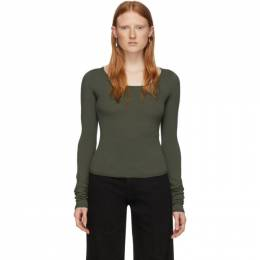 Lemaire Green Second Skin Long Sleeve Pullover W 201 KN437 LK093
