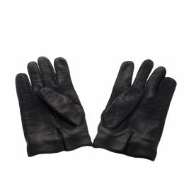 Gucci Black Leather Horsebit Gloves 266910