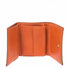 Etro Brown Paisley Coated Canvas Trifold Wallet 266936