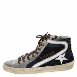 Golden Goose Deluxe Brand Leather and Suede Distressed High Top Sneakers Size 41 266560