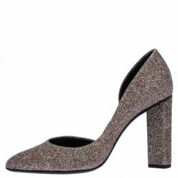 Pierre Hardy Multicolor Glitter Fabric D'orsay Pumps Size 37 267410