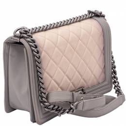 Ombre Boy Quilted Flap Bag Medium Size Chanel