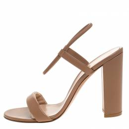 Gianvito Rossi Brown Leather Nikki Ankle Strap Sandals Size 41 262772