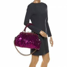 Marc Jacobs Fuchsia Sequins New York Rocker Stam Shoulder Bag 259259