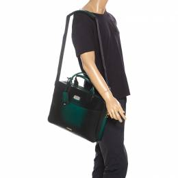 Green Ombre Leather Atelier Document Briefcase 258869 S.T. Dupont