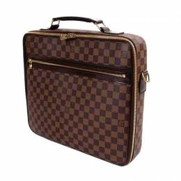 Louis Vuitton	 Damier Ebene Canvas Sabana Briefcase