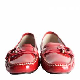 Salvatore Ferragamo	 Red Patent Leather Loafers Size 42.5 201424