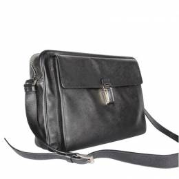 Prada Black Leather Briefcase Bag