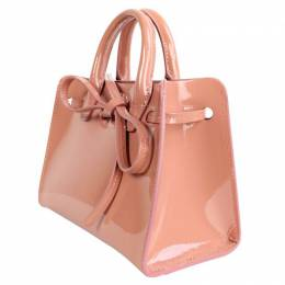 Mansur Gavriel Pink Patent Leather Mini Sun Bag 191859