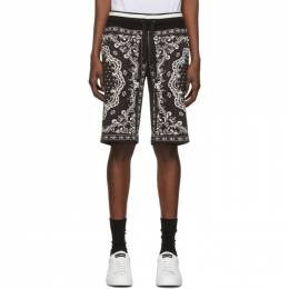 Dolce and Gabbana Black and White Bandana Bermuda Shorts GW33AT FI7HQ