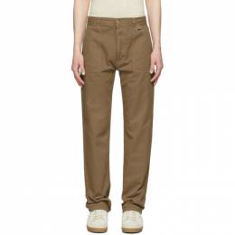 Ami Alexandre Mattiussi Taupe Patch Pockets Straight-Fit Trousers E20HT641.230