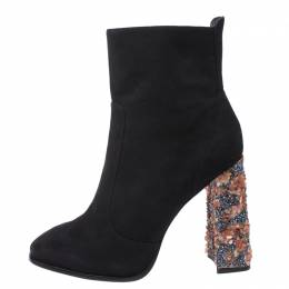 Sophia Webster Black Suede Leather Felicity Ankle Boots Size 41 270386