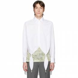 Loewe White Knotted Pearl Shirt H2109810CG