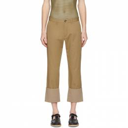 Loewe Beige Turn Up Chino Trousers H2102700IB