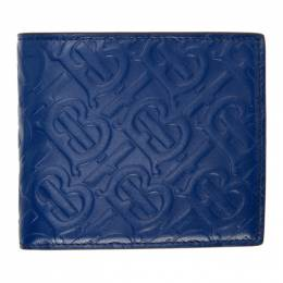 Burberry Blue Monogram International Wallet 8026638