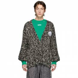 Off-White Black and White Climb Rope Cardigan OMHB004S20H970201000