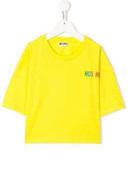 Moschino Kids TEEN chest logo T-shirt HDM03HLBA01