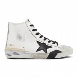 Golden Goose Deluxe Brand White and Black Francy Sneakers G36MS591.C65