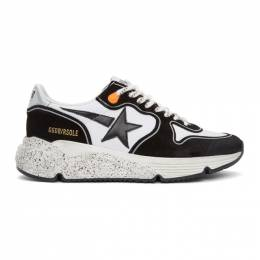 Golden Goose Deluxe Brand Black and White Running Sole Sneakers G36MS963.O7