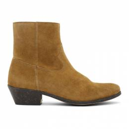 Golden Goose Deluxe Brand Brown Suede Cowboy Boots G36MS652.A5