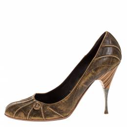 Dior Brown Leather Pumps Size 40 273299