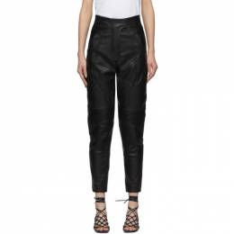 Stella Mccartney	 Black Faux-Leather Alter Trousers 597926SJB14