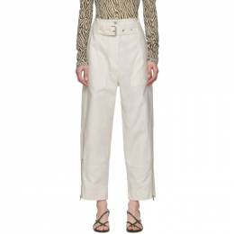 3.1 Phillip Lim White Belted Cargo Pants S202-5550BMS