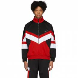 Givenchy Black and Red Sports Band Sweatshirt BMJ04H30AE
