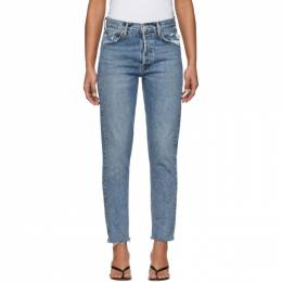 Agolde Blue Jamie High-Rise Classic Fit Jeans A045-1206