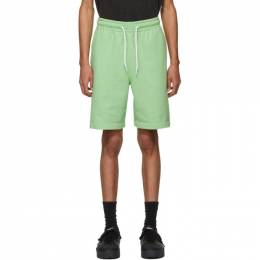 Alexander Wang Green Garment Washed Terry Shorts 6CC1204027