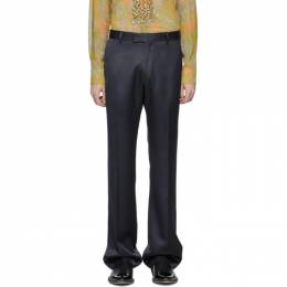Dries Van Noten Navy Prowse Trousers 20972-9214-509