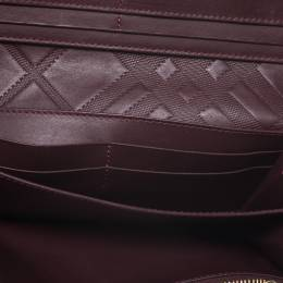 Burberry Burgundy Leather Continental Wallet 273794