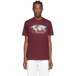 Sies Marjan Burgundy AMO Edition Logo Colorworld T-Shirt COLORWORLDTSHIRT