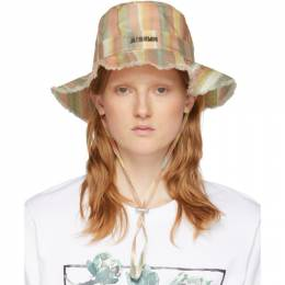 Jacquemus Multicolor Striped Le Bob Artichaut Bucket Hat 201AC03-201 7304C