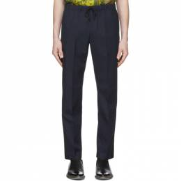 Dries Van Noten Navy Perkino Tape Trousers 20927-9293-509