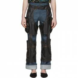 Dries Van Noten Black Chaps Trousers 20904-9174-900