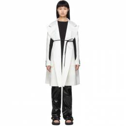 Sacai Off-White Lame Pinstripe Coat 20-05011