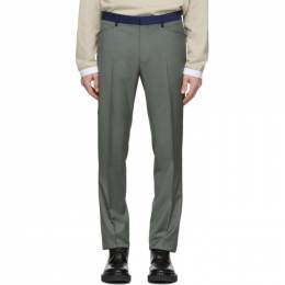 Lanvin Green Contrasted Waist Tailored Trousers RM-TR0169-4394-P20