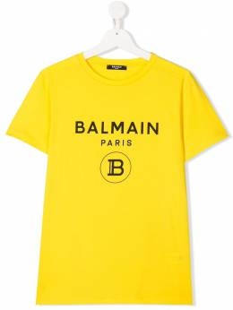 Balmain Kids TEEN logo printed T-shirt 6M8701MX030