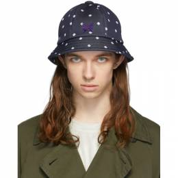 Navy Polka Dot Bermuda Hat Needles GL047