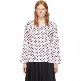 Pink and White Disney Edition Stripe Polka Dot T-Shirt Comme des Garcons Girl NE-T006-051