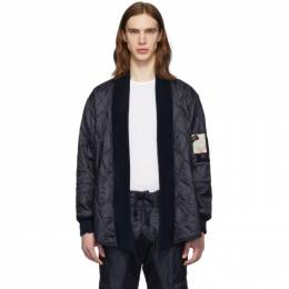 Greg Lauren Navy Paul and Shark Edition Quilted Kimono Jacket P20P2390