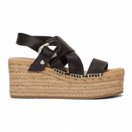 Rag & Bone Black August Platform Espadrilles WFF20SF0151V15-BLACK