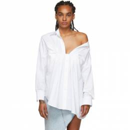 Alexander Wang White Tucked Oxford Blouse 1WC1201336
