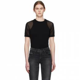 Our Legacy Black Square Round Neck T-Shirt W2203SBL